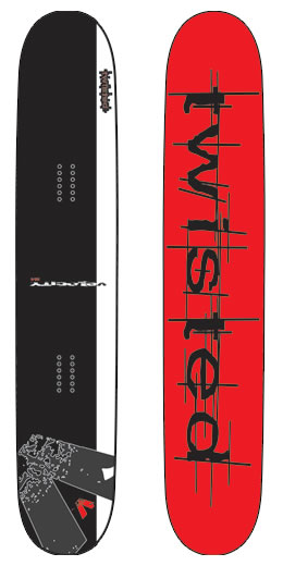 Twisted Velocity Snowkite Board